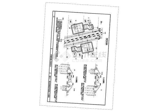 跨铁路转体桥深基坑专项方案(中铁附CAD图)-图二