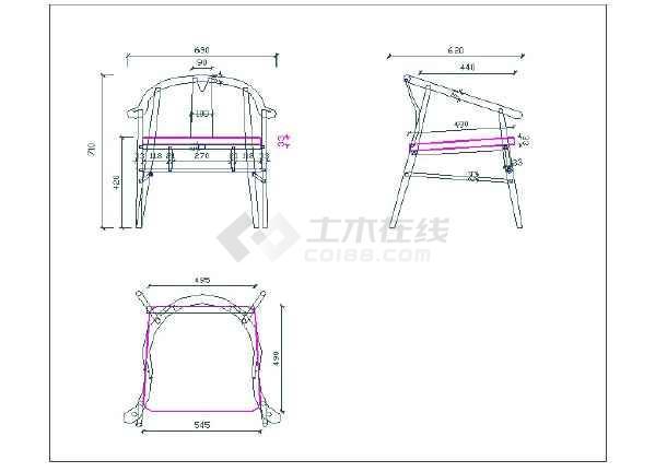 新中式圈椅深化图生产图三视图CAD附参考图-图一