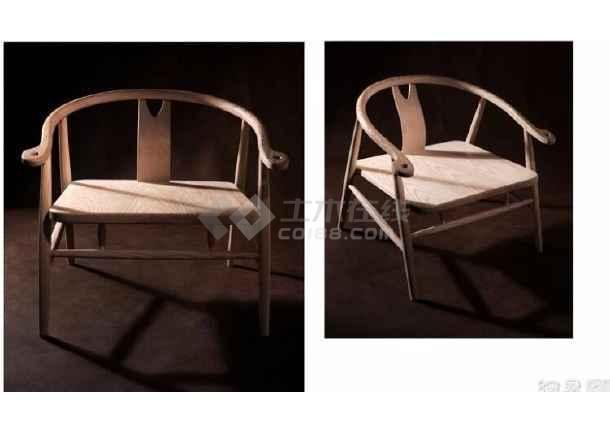 新中式圈椅深化图生产图三视图CAD附参考图-图二