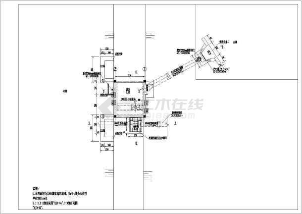 灌排两用泵站详细施工图纸-图一