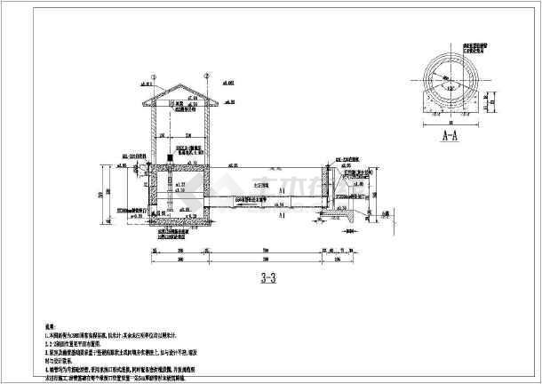 灌排两用泵站详细施工图纸-图二