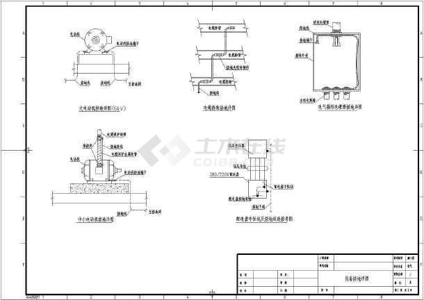 防雷接地施工图标准CAD图-图一