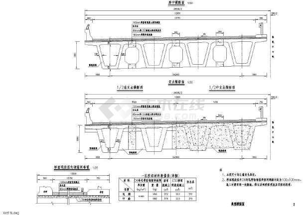 35m装配式箱型连续梁标准通用图(92张现行规范)-图二
