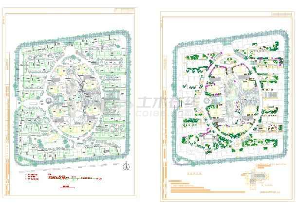小区园林绿化设计图纸(41个CAD文件)-图一
