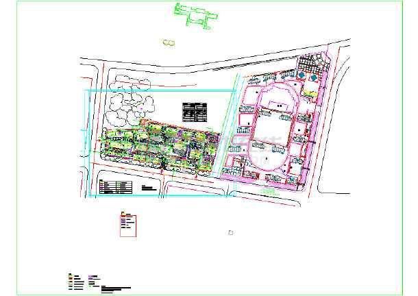 点击查看山东某地高层住宅小区规划CAD图第1张大图