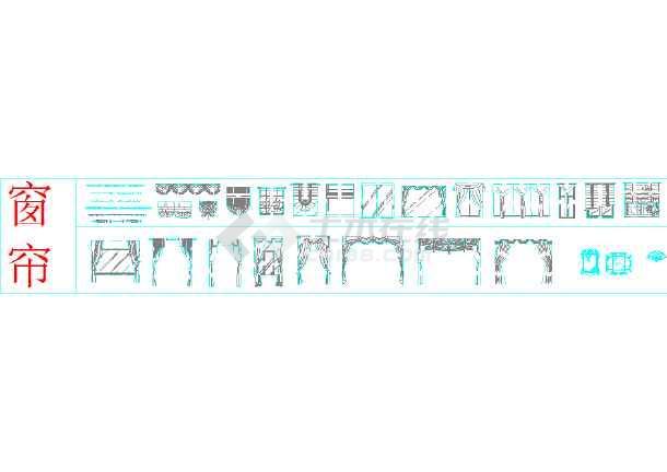 家装室内设计CAD图标模块-图一