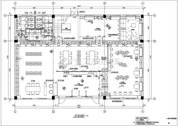 某图书馆室内装修设计CAD图-图一