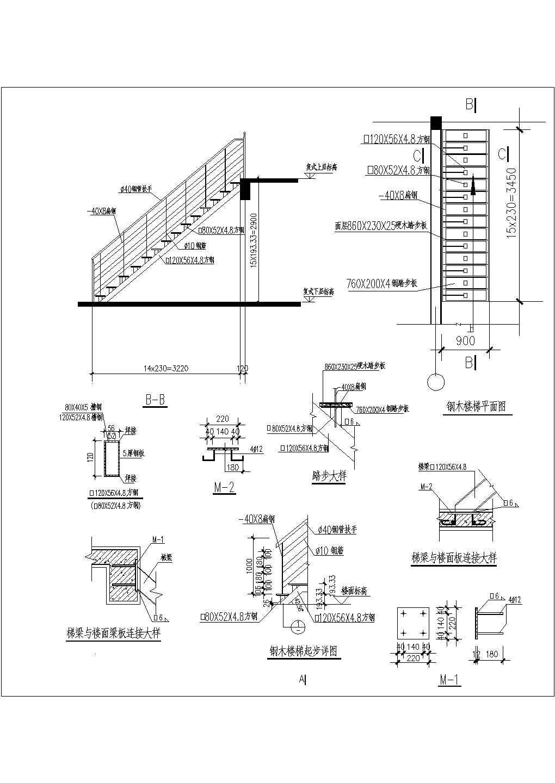 [图块/节点]户内钢木楼梯详图图片3