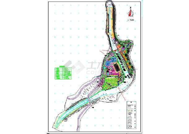 点击查看某地室外景观度假村规划设计图纸第1张大图