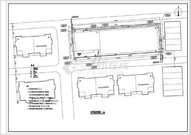 某三层库房及办公楼给排水设计CAD图  建筑面积2146.09平方米-图一