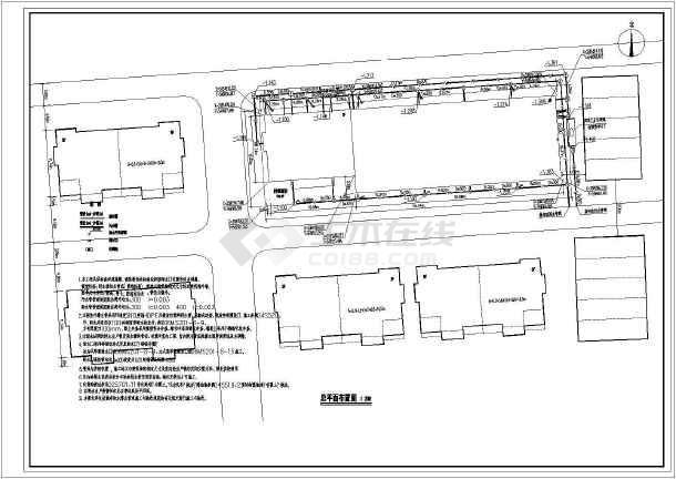 某三层库房及办公楼给排水设计CAD图  建筑面积2146.09平方米-图二
