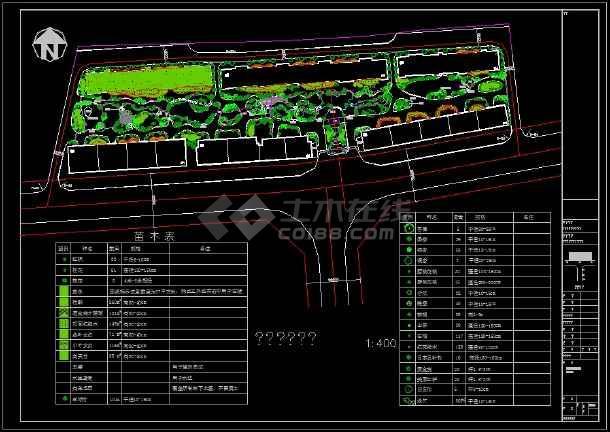 整理多套小区园林绿化规划设计CAD图纸-图一