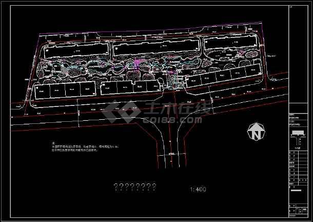 整理多套小区园林绿化规划设计CAD图纸-图二
