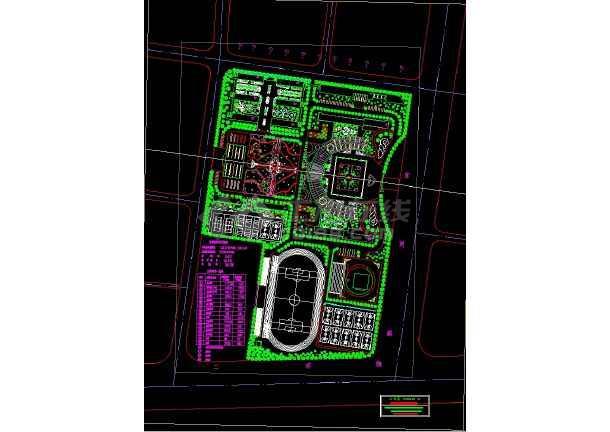 学校园林绿化平面图纸(23个CAD文件)-图一
