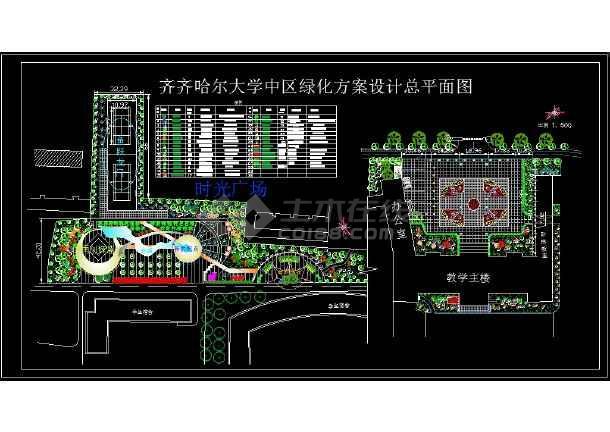 学校园林绿化平面图纸(23个CAD文件)-图二