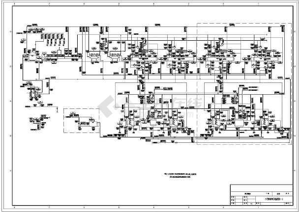 电厂工艺流程CAD图纸-图二