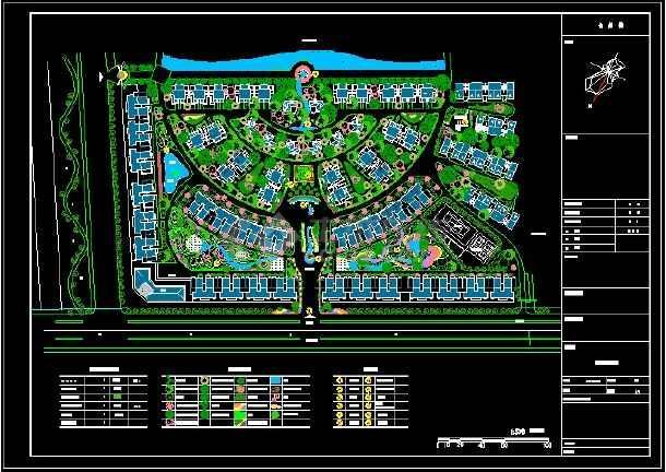 整理多套小区园林绿化设计CAD图纸-图一