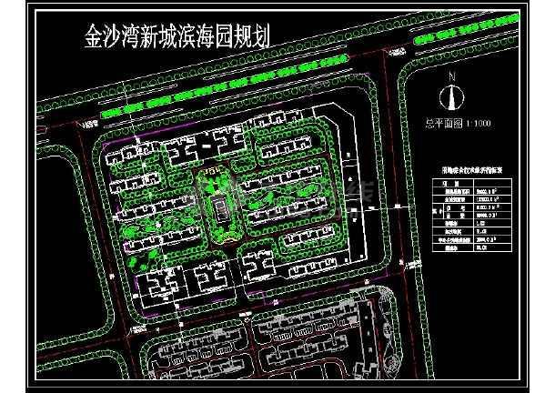 整理多套小区园林绿化设计CAD图纸-图二