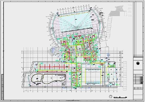 点击查看暖通某游泳馆设计CAD图纸第1张大图