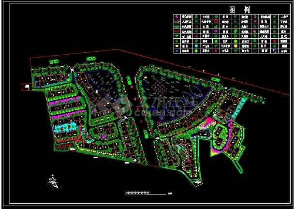 小区园林规划施工图纸(18个CAD文件)-图一