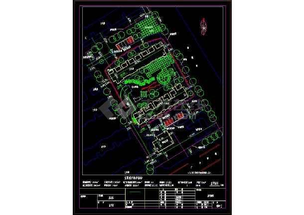 小区园林规划施工图纸(18个CAD文件)-图二