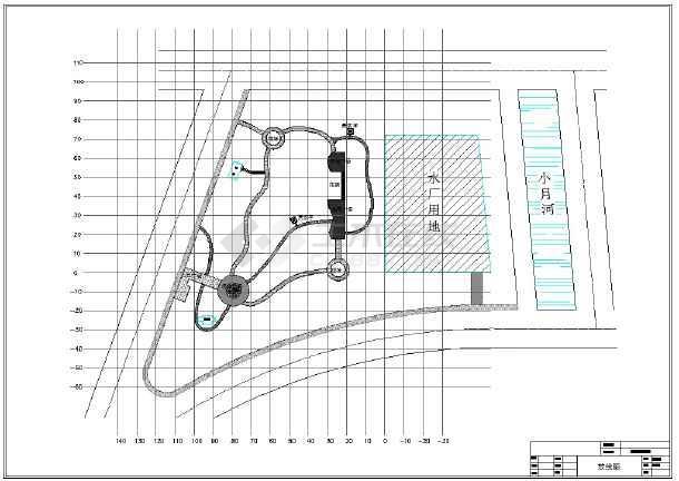 某街三角地景观设计全套CAD施工图-图一