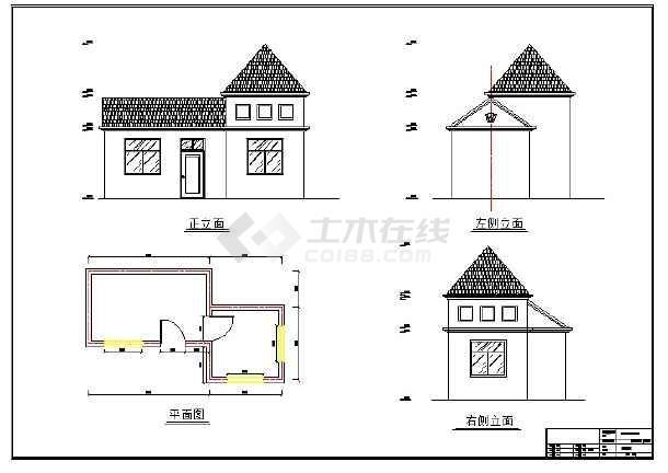 某街三角地景观设计全套CAD施工图-图二