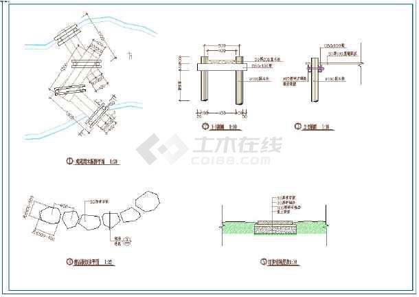 深圳某公园景观设计全套施工CAD图-图一