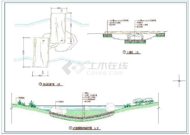 深圳某公园景观设计全套施工CAD图-图二