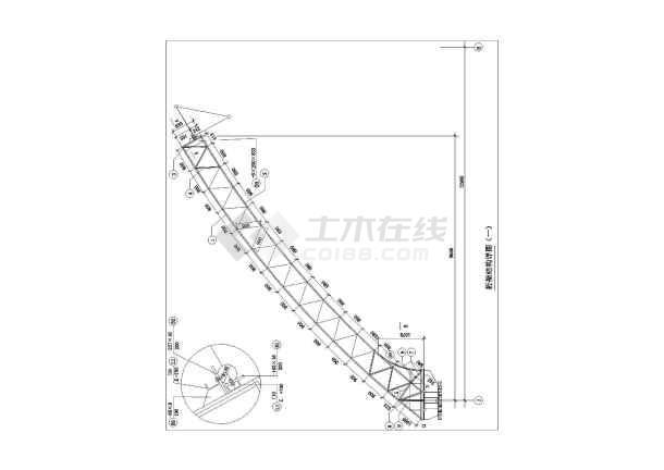[节点详图]某钢结构桁架结构节点构造详图-图二