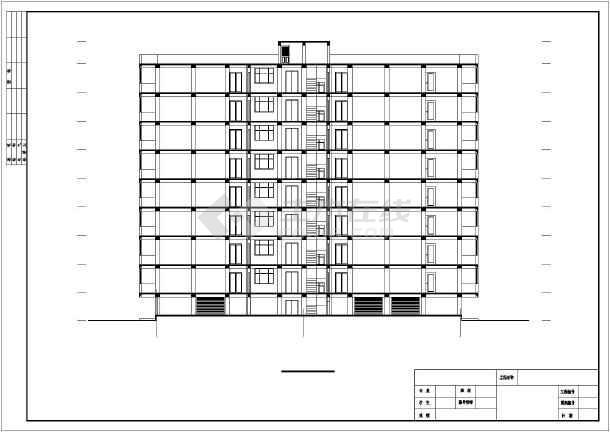 某点式小高层住宅楼毕业设计-图二