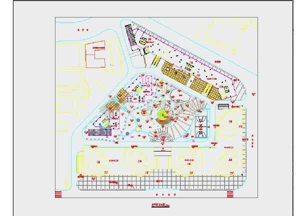 某明珠花园小区景观园林施工CAD图-图一