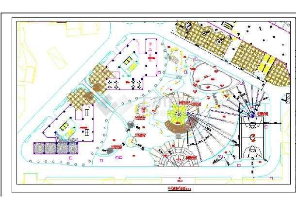 某明珠花园小区景观园林施工CAD图-图二