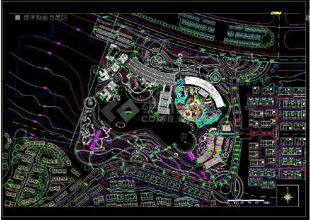 山水草堂景观设计全套CAD 图纸-图一