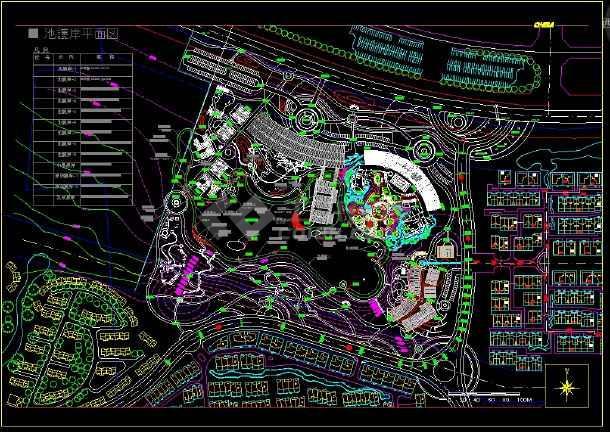 山水草堂景观设计全套CAD 图纸-图二