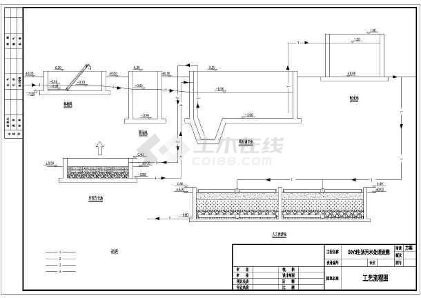 点击查看50-600t污水厂工艺流程及平面图集第2张大图