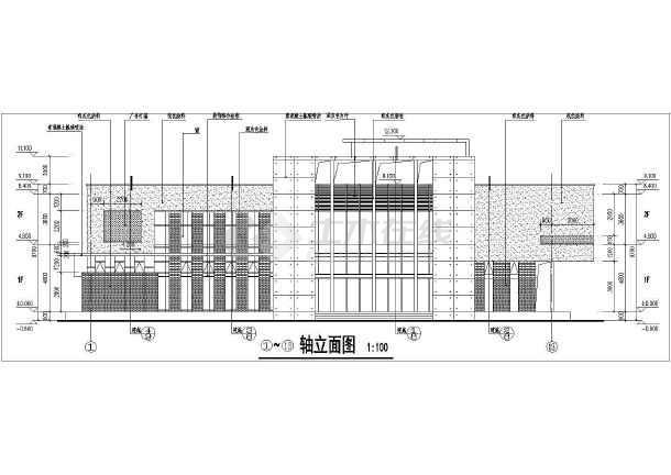 万科某地高档楼盘售楼处建筑图 (一层建筑面积:534平方米,二层建筑面积:523平方米)-图二