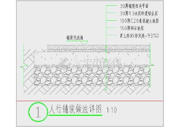 某艺术中心新建工程室外给排水设计CAD图-图一