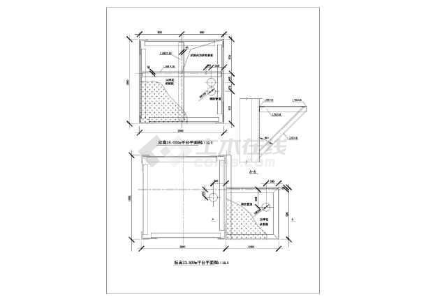 某钢结构爬梯节点构造详图-图二