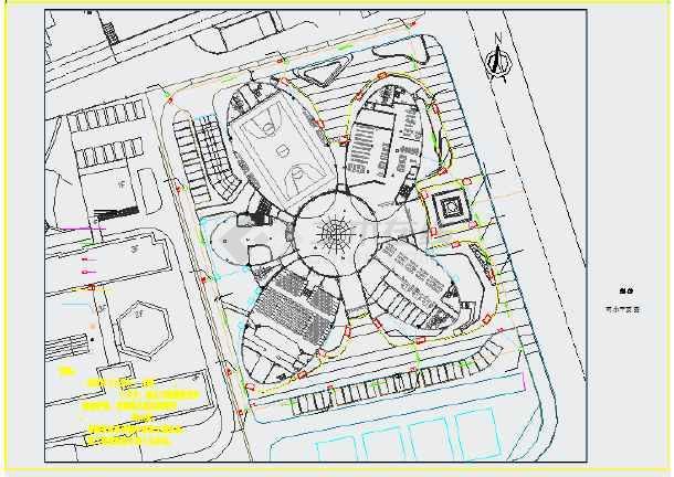 某艺术中心新建工程给排水施工CAD图-图一