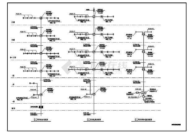 某小区高层住宅楼电气系统图-图二