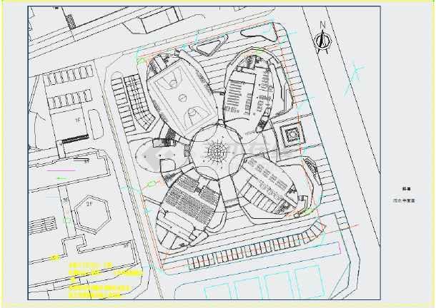 某艺术中心新建工程给排水施工CAD图-图二