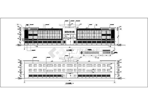 农贸市场建筑施工图(含5套资料打包)-图一