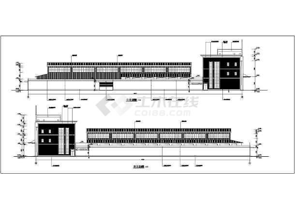 农贸市场建筑施工图(含5套资料打包)-图二