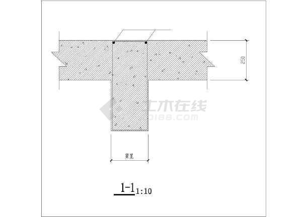 [节点详图]某梁、板后浇带大样节点构造详图(二)-图二