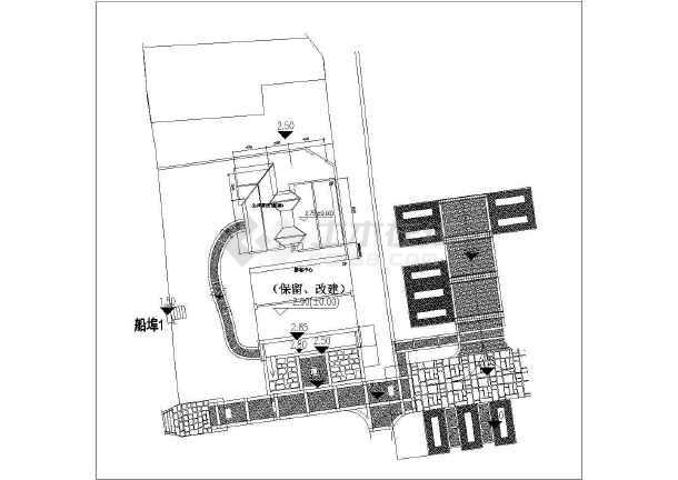 某游客中心大门及公厕工程电气设计图-图一