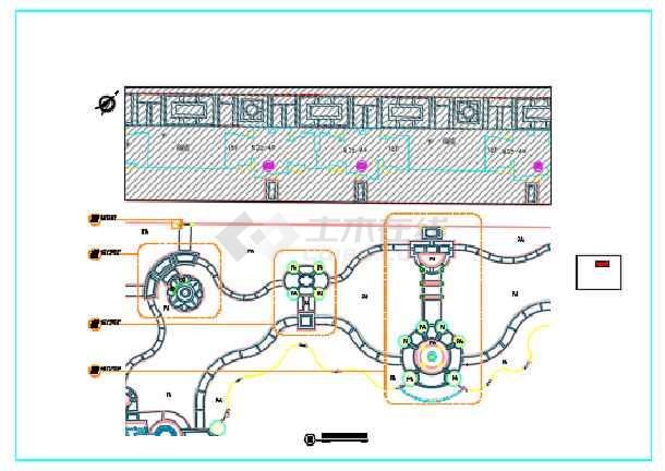 点击查看[东莞]居住区园林景观工程总图设计第2张大图