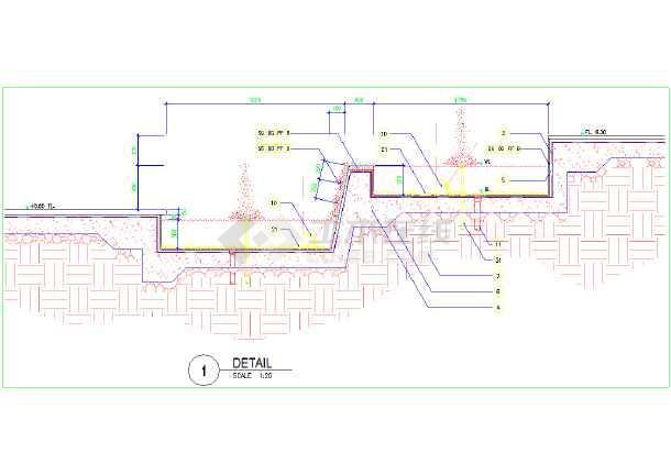 广州购物中心景观工程全套施工图-图一