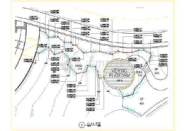 广州购物中心景观工程全套施工图-图二