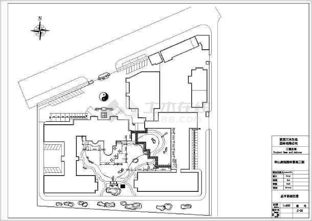 某宾馆景观园林工程全图-图二